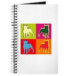 Boston Terrier Silhouette Pop Art Journal