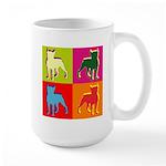 Boston Terrier Silhouette Pop Art Large Mug