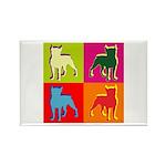 Boston Terrier Silhouette Pop Art Rectangle Magnet