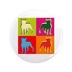 Boston Terrier Silhouette Pop Art 3.5