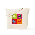 Boston Terrier Silhouette Pop Art Tote Bag
