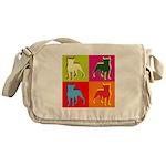 Boston Terrier Silhouette Pop Art Messenger Bag