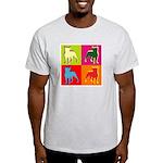 Boston Terrier Silhouette Pop Art Light T-Shirt