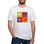 Boston Terrier Silhouette Pop Art Fitted T-Shirt