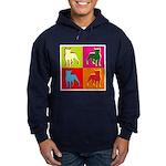 Boston Terrier Silhouette Pop Art Hoodie (dark)