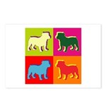 Bulldog Silhouette Pop Art Postcards (Package of 8