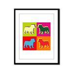Bulldog Silhouette Pop Art Framed Panel Print
