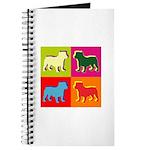 Bulldog Silhouette Pop Art Journal