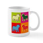 Bulldog Silhouette Pop Art Mug