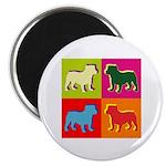 Bulldog Silhouette Pop Art Magnet