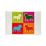 Bulldog Silhouette Pop Art Rectangle Magnet (100 p
