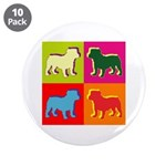 Bulldog Silhouette Pop Art 3.5