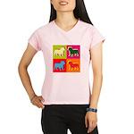 Bulldog Silhouette Pop Art Performance Dry T-Shirt