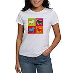 Bulldog Silhouette Pop Art Women's T-Shirt