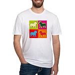 Bulldog Silhouette Pop Art Fitted T-Shirt
