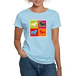 Bulldog Silhouette Pop Art Women's Light T-Shirt