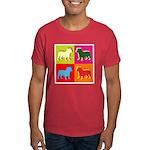 Bulldog Silhouette Pop Art Dark T-Shirt