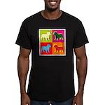 Bulldog Silhouette Pop Art Men's Fitted T-Shirt (d