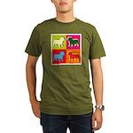 Bulldog Silhouette Pop Art Organic Men's T-Shirt (