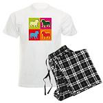 Bulldog Silhouette Pop Art Men's Light Pajamas