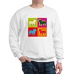 Bulldog Silhouette Pop Art Sweatshirt