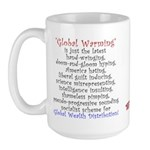 Global Warming the NEW Global Cooling Large Mug