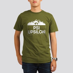 Psi Upsilon Mountains Organic Men's T-Shirt (dark)