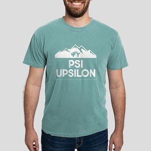 Psi Upsilon Mountains Mens Comfort Color T-Shirts