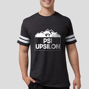 Psi Upsilon Mountains Mens Football T-Shirts