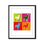 Bullterrier Silhouette Pop Art Framed Panel Print