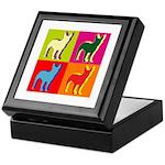 Bullterrier Silhouette Pop Art Keepsake Box