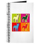 Bullterrier Silhouette Pop Art Journal