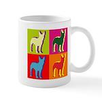 Bullterrier Silhouette Pop Art Mug