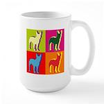 Bullterrier Silhouette Pop Art Large Mug