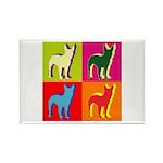 Bullterrier Silhouette Pop Art Rectangle Magnet (1