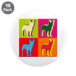 Bullterrier Silhouette Pop Art 3.5