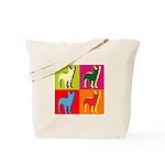 Bullterrier Silhouette Pop Art Tote Bag