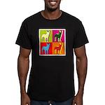Bullterrier Silhouette Pop Art Men's Fitted T-Shir