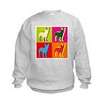 Bullterrier Silhouette Pop Art Kids Sweatshirt