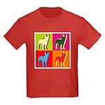 Bullterrier Silhouette Pop Art Kids Dark T-Shirt