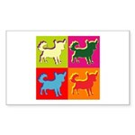 Chihuahua Silhouette Pop Art Sticker (Rectangle 50
