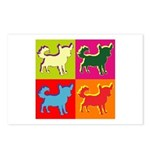 Chihuahua Silhouette Pop Art Postcards (Package of