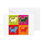 Chihuahua Silhouette Pop Art Greeting Card