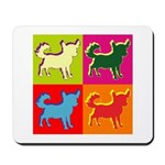 Chihuahua Silhouette Pop Art Mousepad
