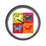 Chihuahua Silhouette Pop Art Wall Clock