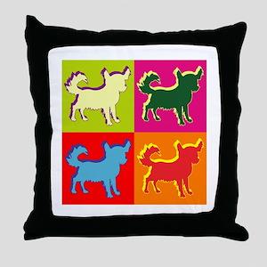 Chihuahua Silhouette Pop Art Throw Pillow