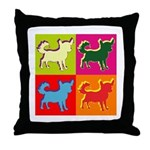 Chihuahua Silhouette Pop Art Throw Pillow