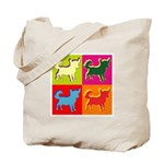 Chihuahua Silhouette Pop Art Tote Bag