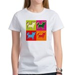 Chihuahua Silhouette Pop Art Women's T-Shirt
