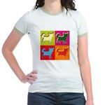 Chihuahua Silhouette Pop Art Jr. Ringer T-Shirt